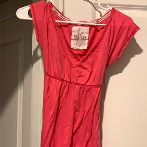 Hollister pink blouse